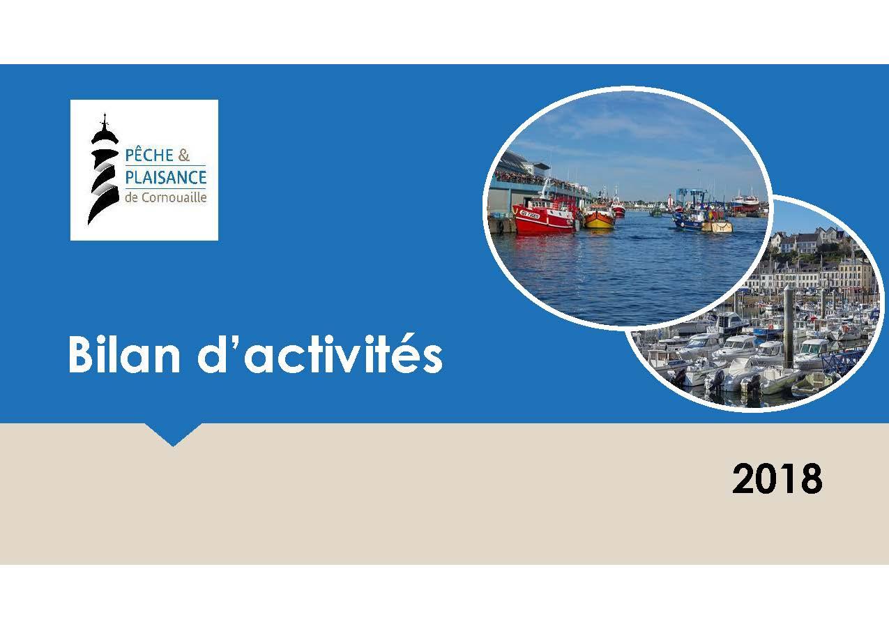 couverture du bilan d'activités 2018