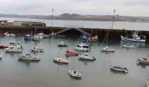 Insertion cloture accès pontons Douarnenez